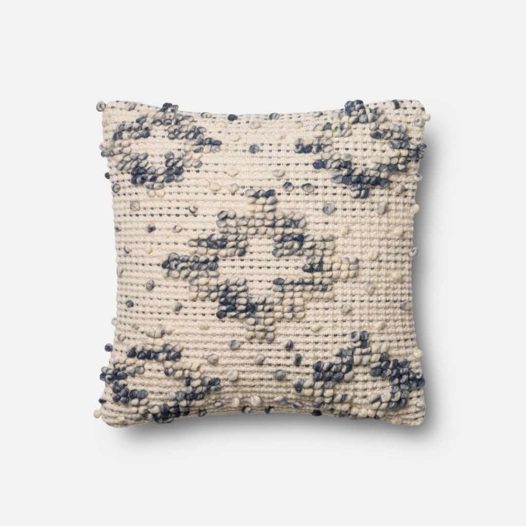 Magnolia Home P0420 Blue / Ivory Pillow
