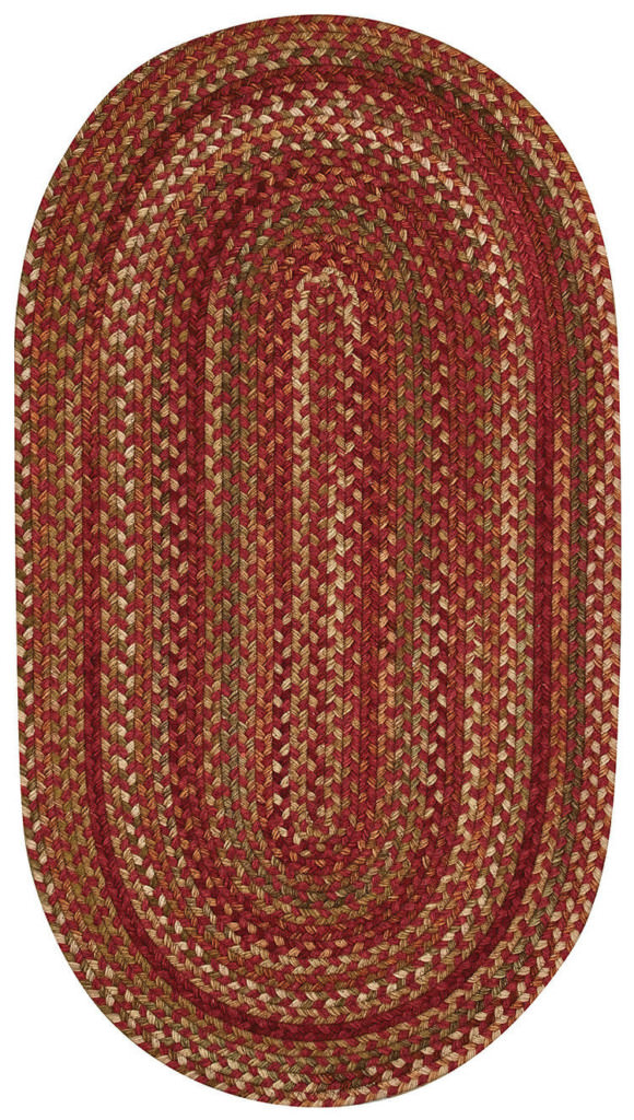 Capel Homecoming 500 Rosewood Red Braided Rug