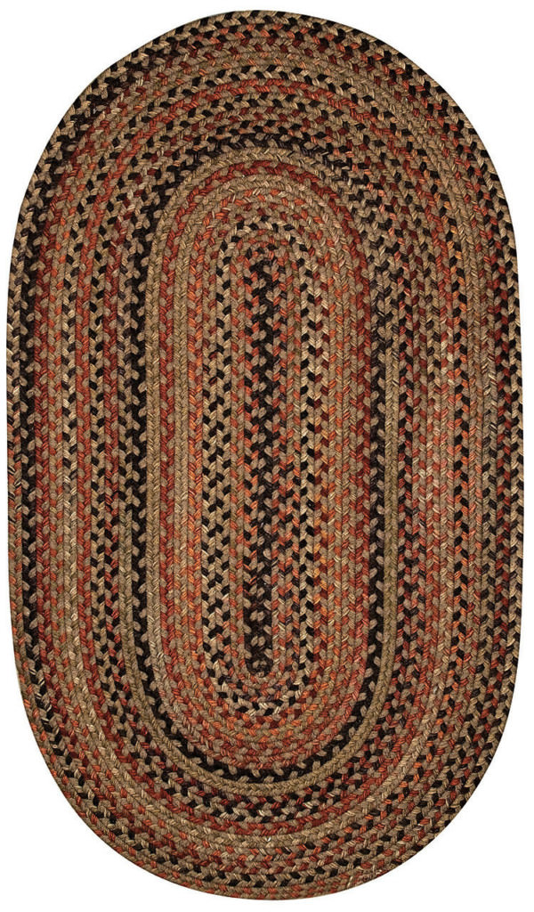 Capel Homecoming 700 Chestnut Brown Braided Rug