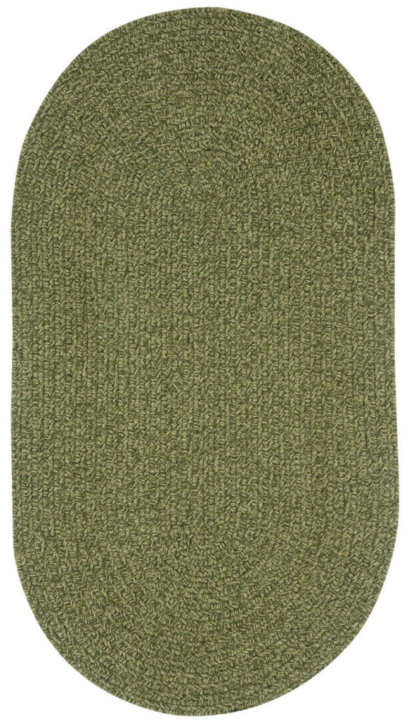 Capel Heathered 200 Sage Green Braided Rug