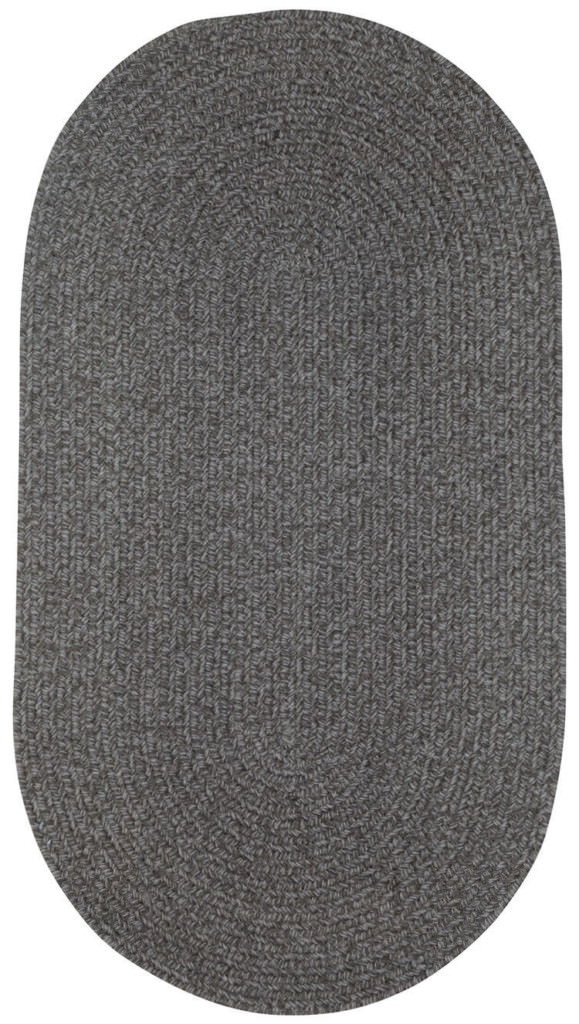 Capel Heathered 350 Grey Braided Rug