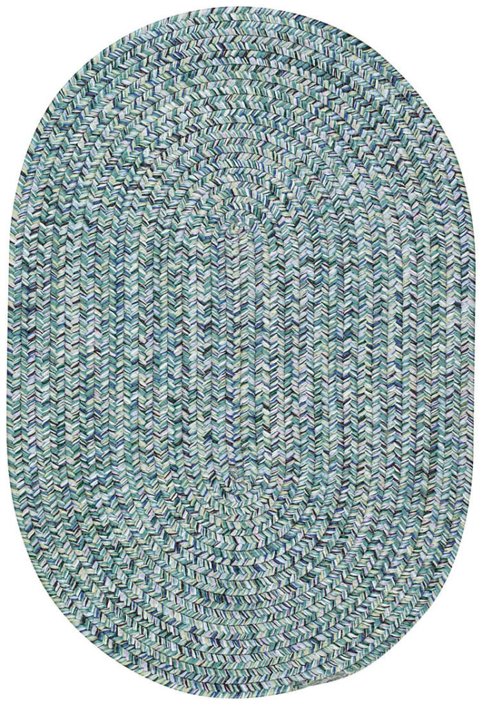 Capel Sea Glass 400 Ocean Blue Braided Rug