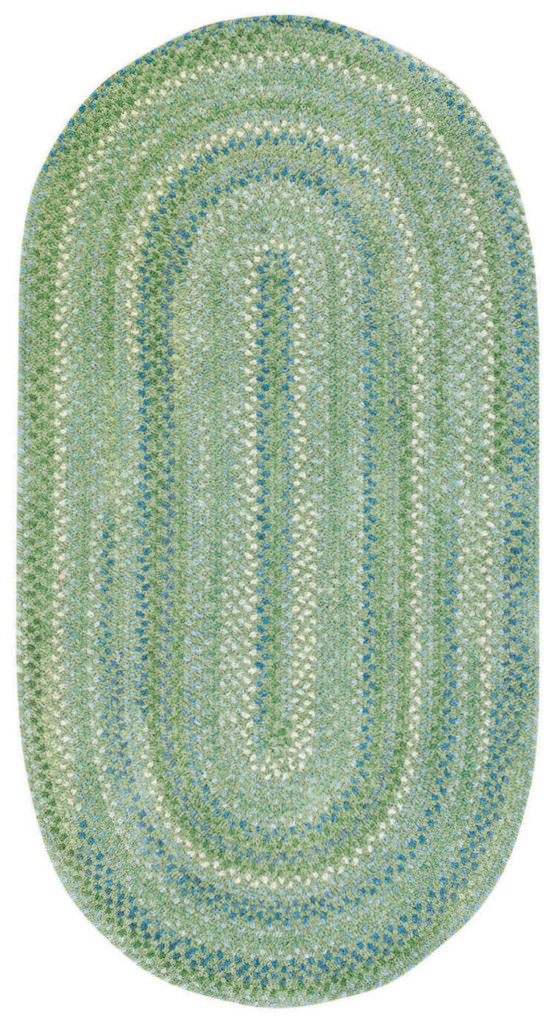Capel Sailor Boy 200 Sea Monster Green Braided Rug