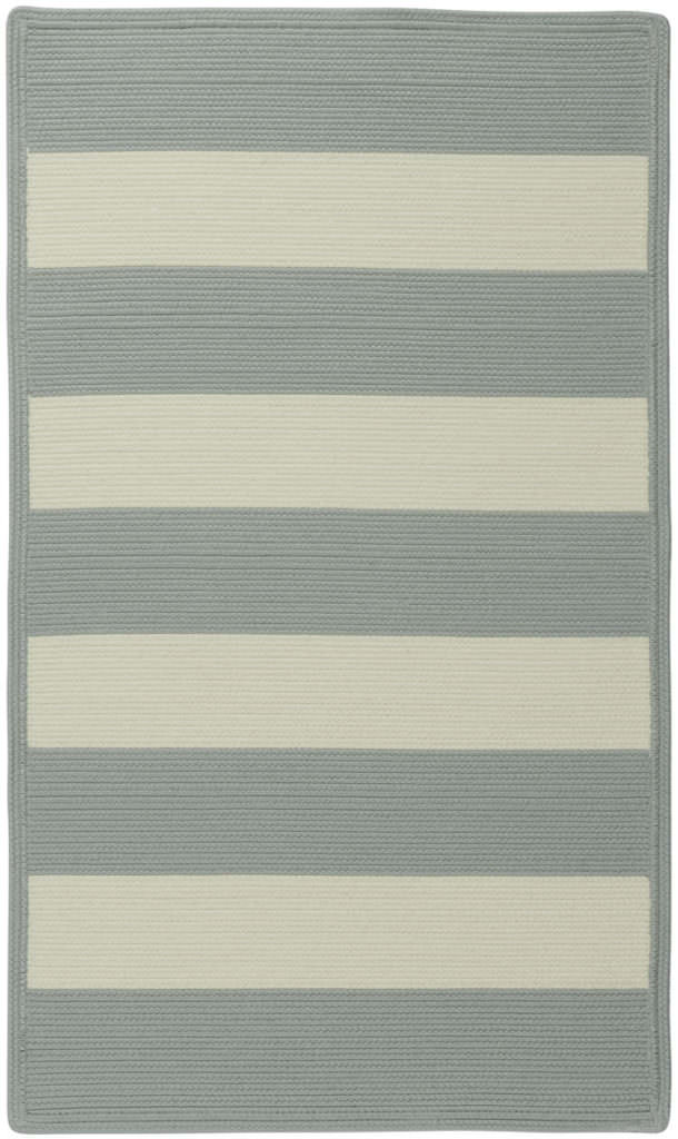 Capel Cabana Stripes 410 Sugar Blue Braided Rug