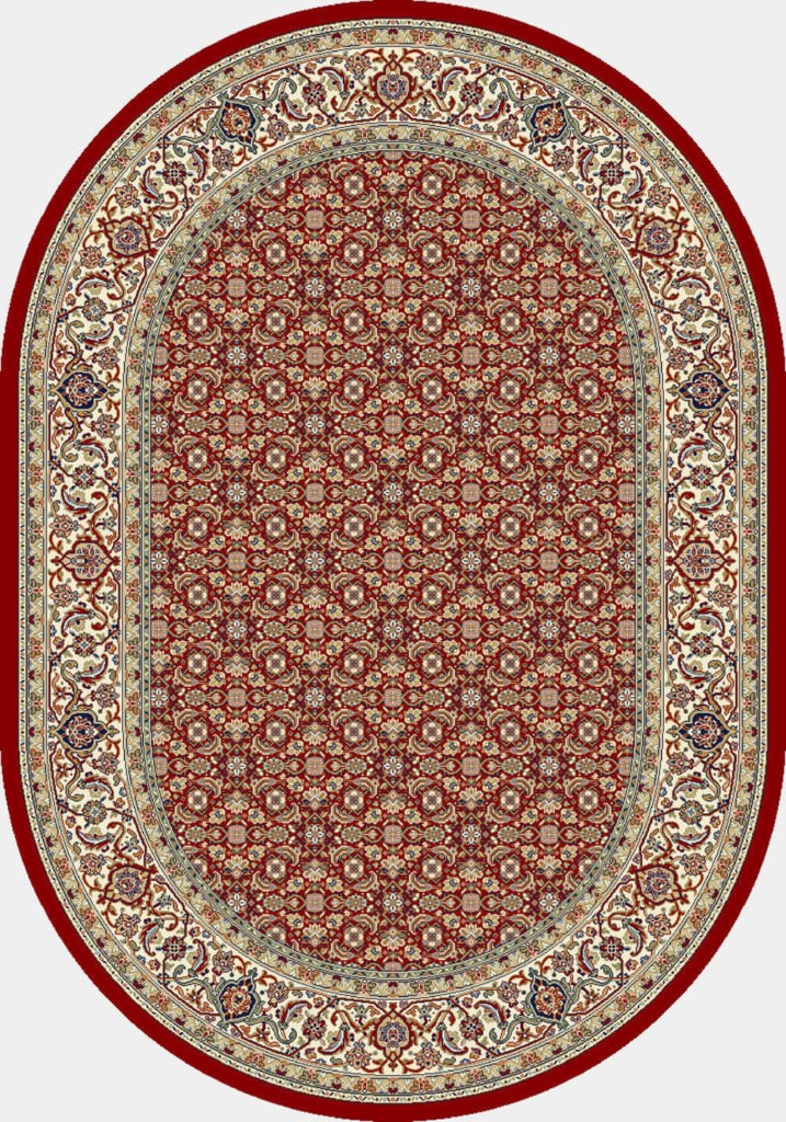 "Dynamic Ancient Garden 6'-7"" x 9'-6"" Oval 57011-1414 Red / Ivory Rug"