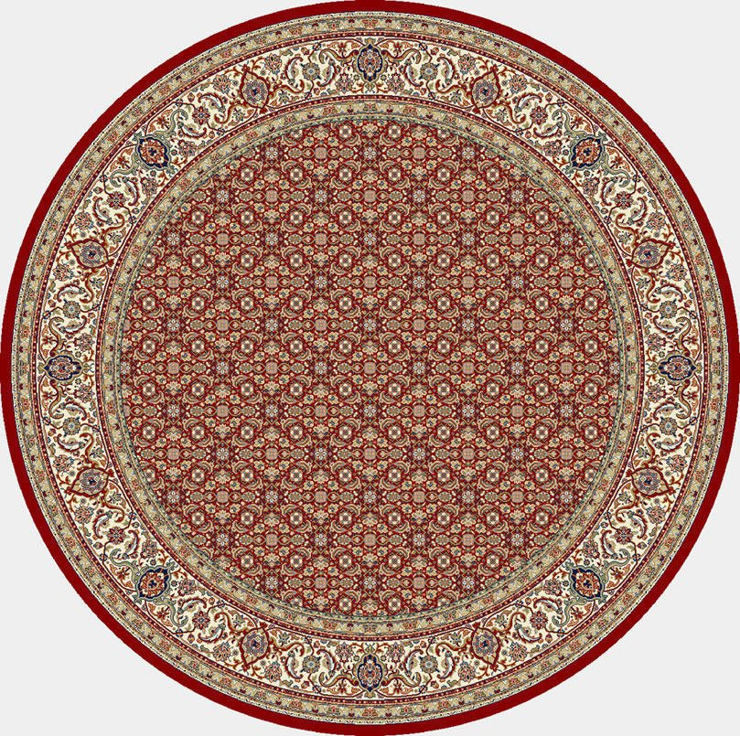 "Dynamic Ancient Garden 7'-10"" x 7'-10"" Round 57011-1414 Red / Ivory Rug"