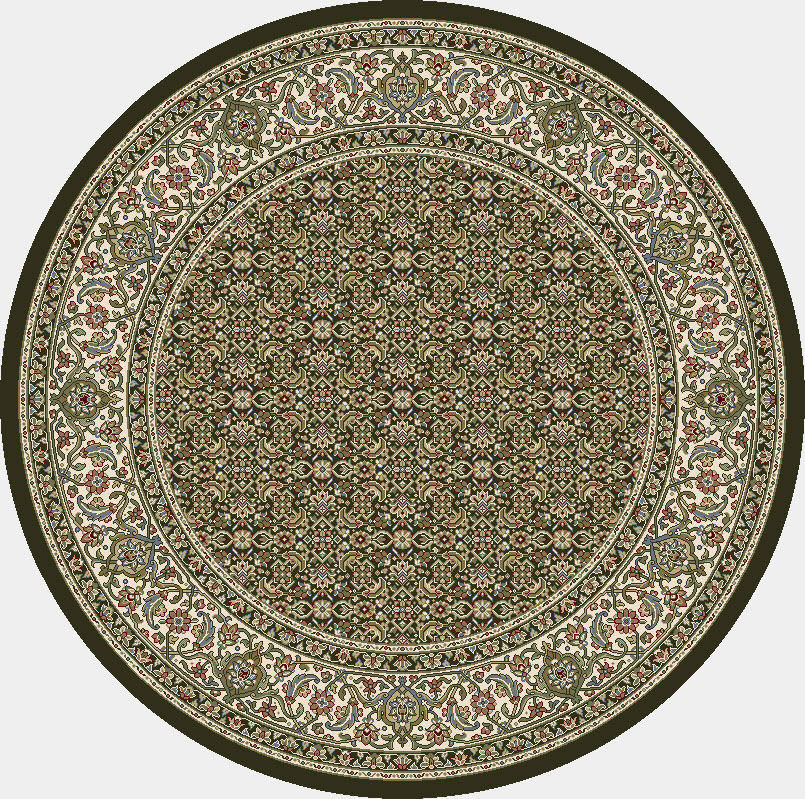 "Dynamic Ancient Garden 7'-10"" x 7'-10"" Round 57011-3263 Cream / Grey Rug"