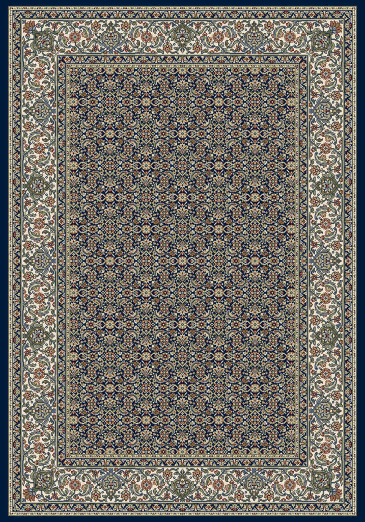 "Dynamic Ancient Garden 9'-2"" x 12'-10"" 57011-3464 Navy Rug"