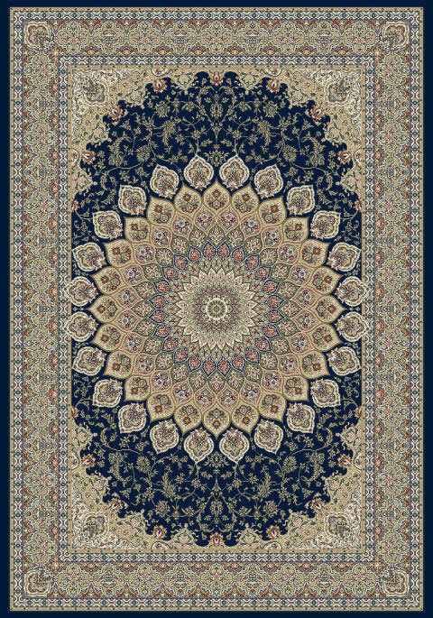 "Dynamic Ancient Garden 9'-2"" x 12'-10"" 57090-3484 Navy Rug"