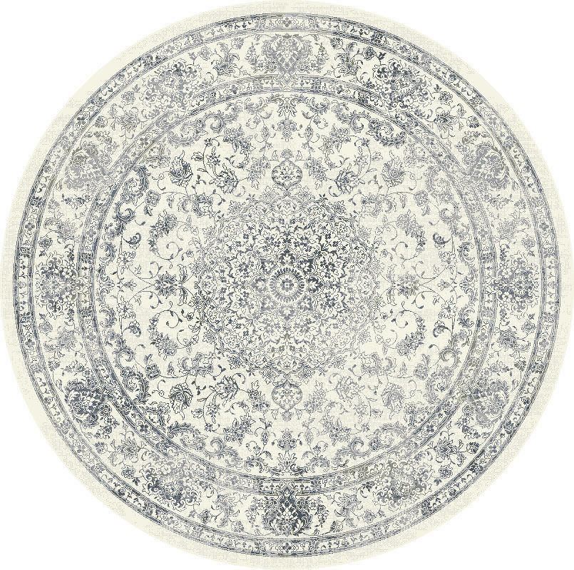 "Dynamic Ancient Garden 7'-10"" x 7'-10"" Round 57109-6666 Cream Rug"