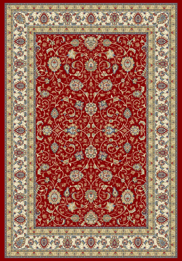"Dynamic Ancient Garden 9'-2"" x 12'-10"" 57120-1464 Red / Ivory Rug"