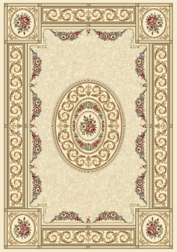 "Dynamic Ancient Garden 9'-2"" x 12'-10"" 57226-6464 Ivory Rug"