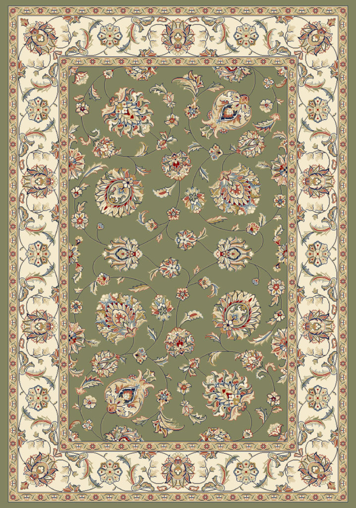 "Dynamic Ancient Garden 9'-2"" x 12'-10"" 57365-4464 Green / Ivory Rug"
