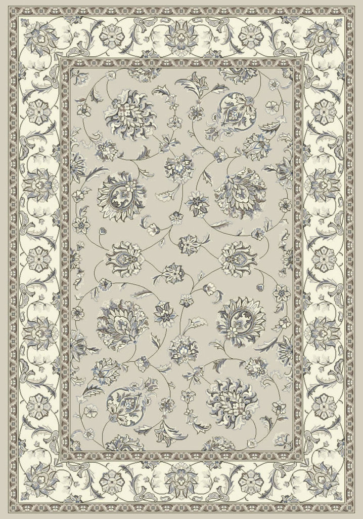 "Dynamic Ancient Garden 9'-2"" x 12'-10"" 57365-9666 Soft Grey / Cream Rug"