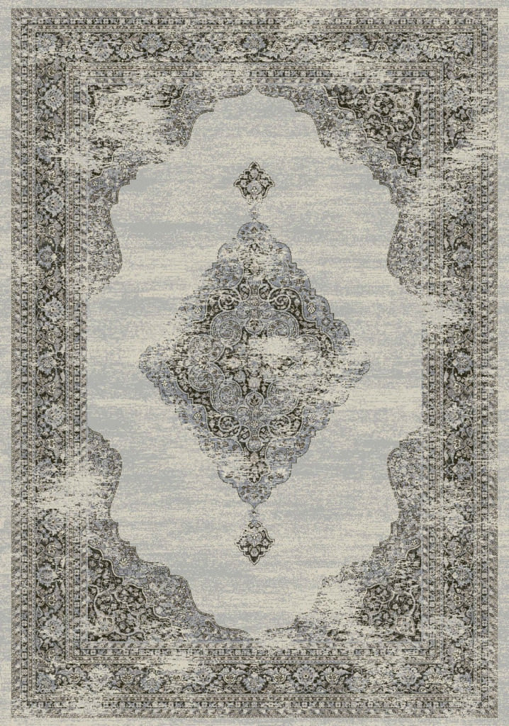 "Dynamic Ancient Garden 9'-2"" x 12'-10"" 57557-9696 Soft Grey / Cream Rug"