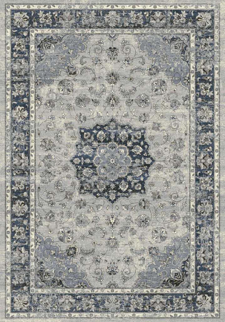 "Dynamic Ancient Garden 9'-2"" x 12'-10"" 57559-9686 Silver / Blue Rug"
