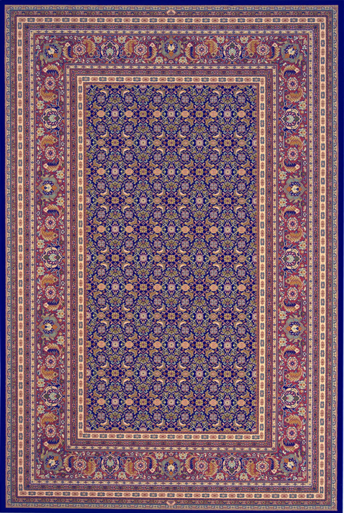 "Dynamic Brilliant 9'-10"" x 13'-1"" 72240-520 Navy Rug"