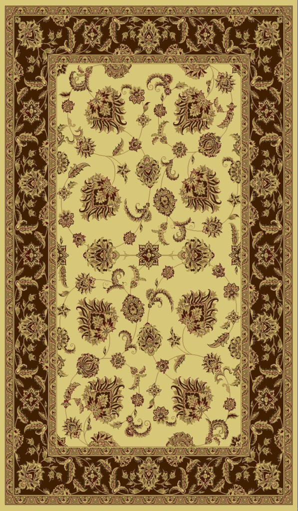 "Dynamic Legacy 9'-2"" x 12'-10"" 58020-160 Cream / Brown Rug"