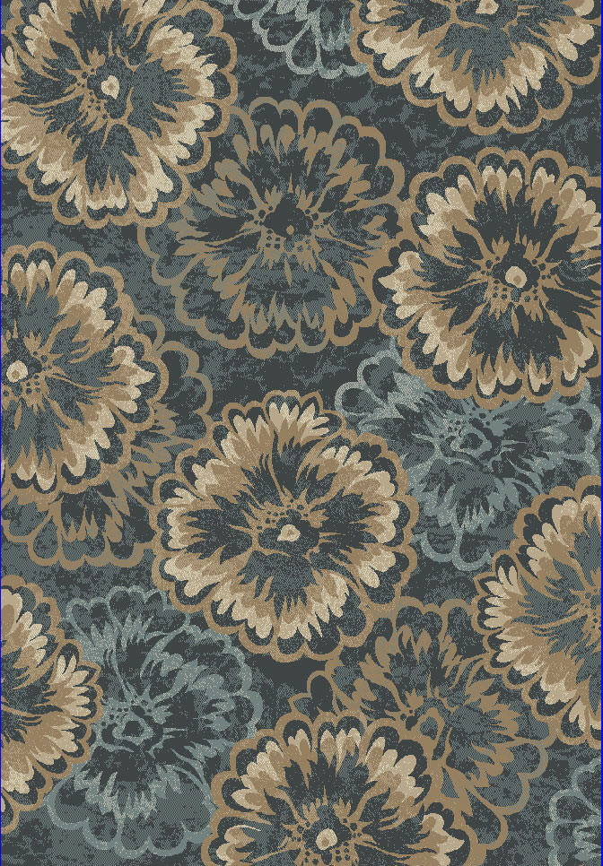 "Dynamic Melody 9'-2"" x 12'-10"" 985013-554 Anthracite Rug"