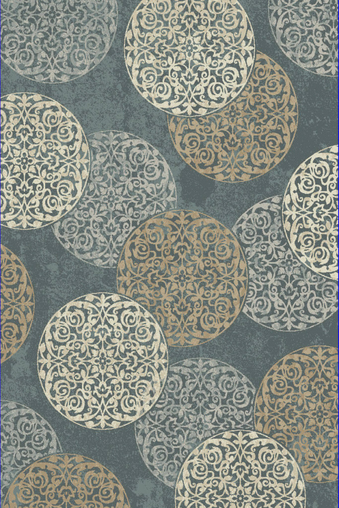 "Dynamic Melody 9'-2"" x 12'-10"" 985014-997 Blue Rug"