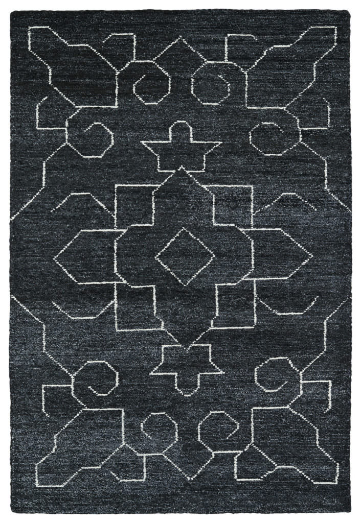 Kaleen Solitaire SOL08-38 Charcoal Rug