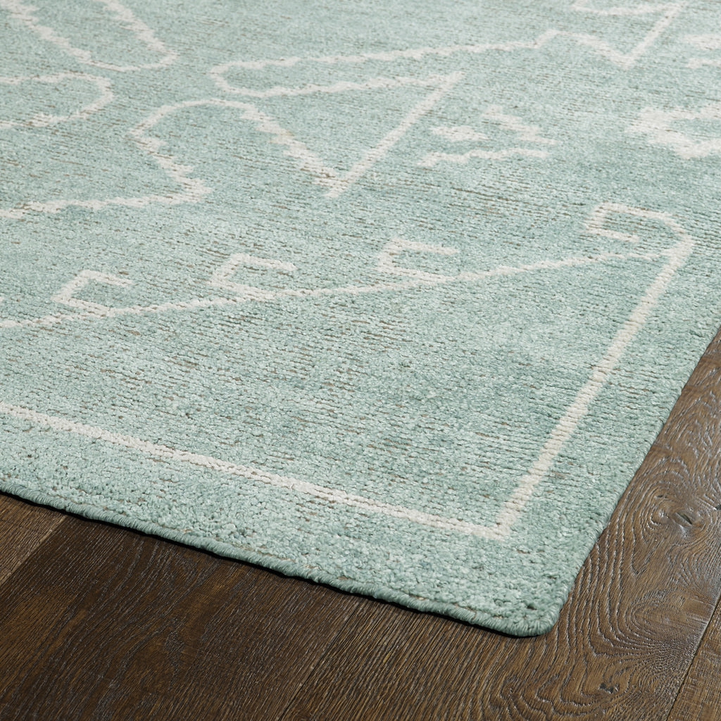 Kaleen Solitaire SOL09-88 Mint Rug Close-Up