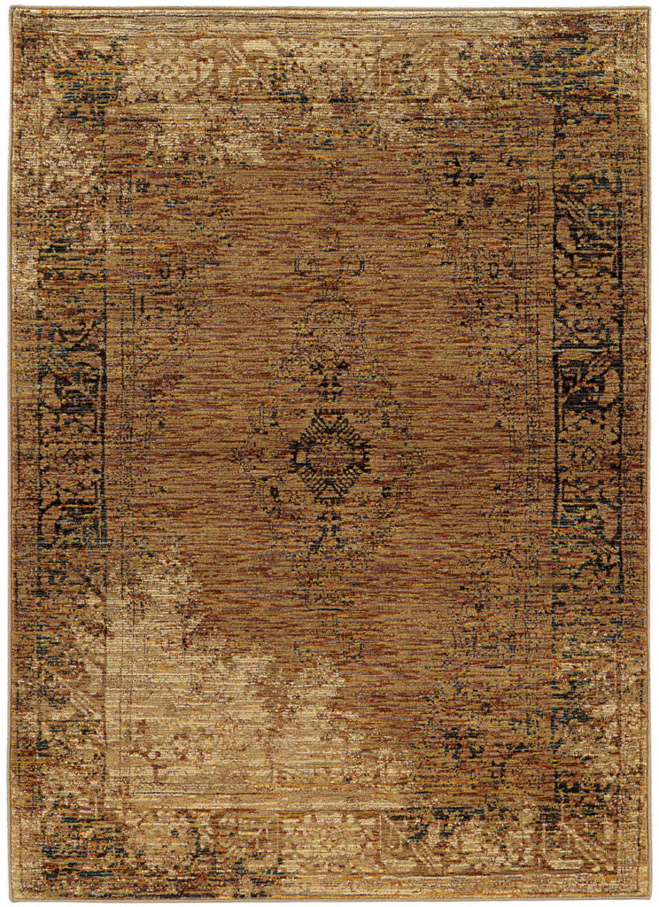 Oriental Weavers Andorra ANR 6845D Gold / Brown Rug