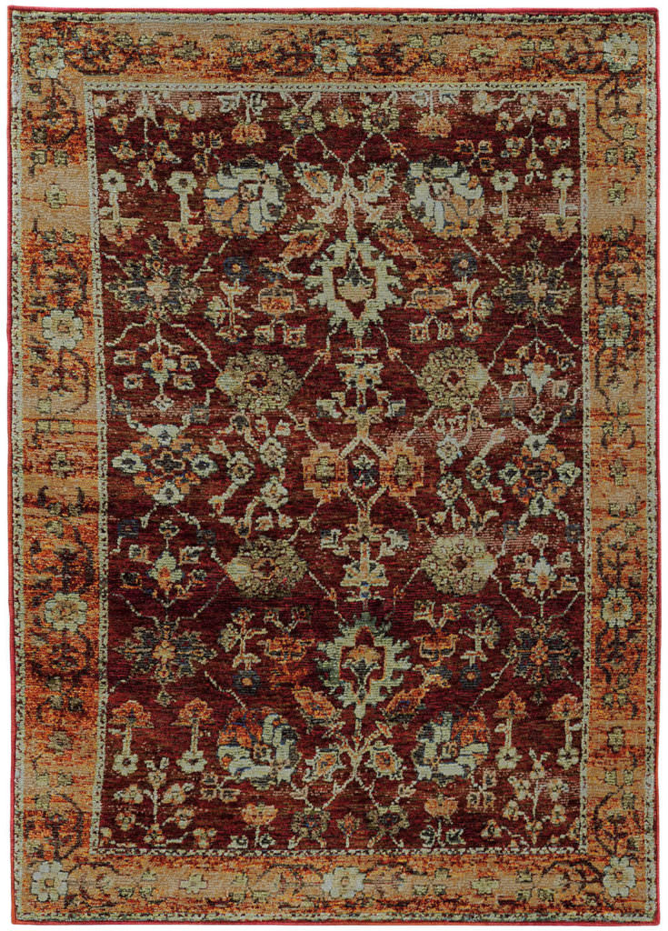 Oriental Weavers Andorra ANR 7154A Red / Gold Rug