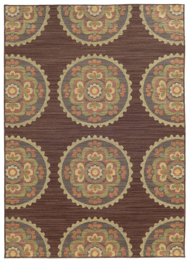 Tommy Bahama Cabana CBN 501M2 Brown / Multi Rug