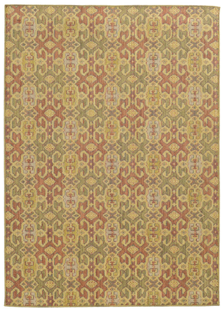 Tommy Bahama Cabana CBN 5501W Pink / Green Rug