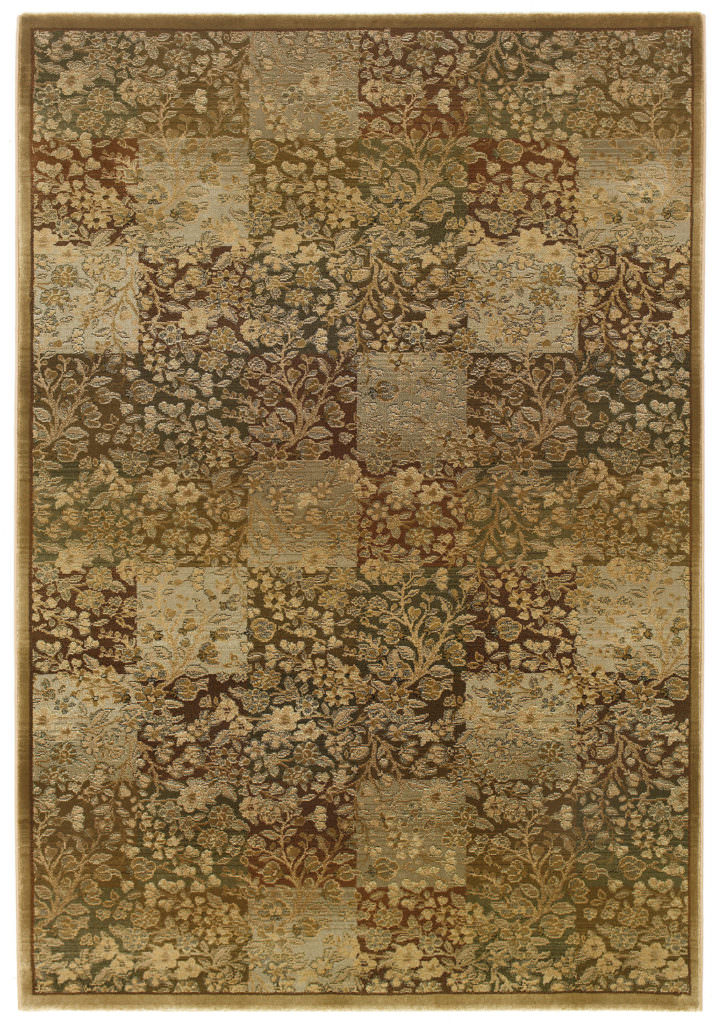 Oriental Weavers Generations GNR 3435Y Green / Gold Rug