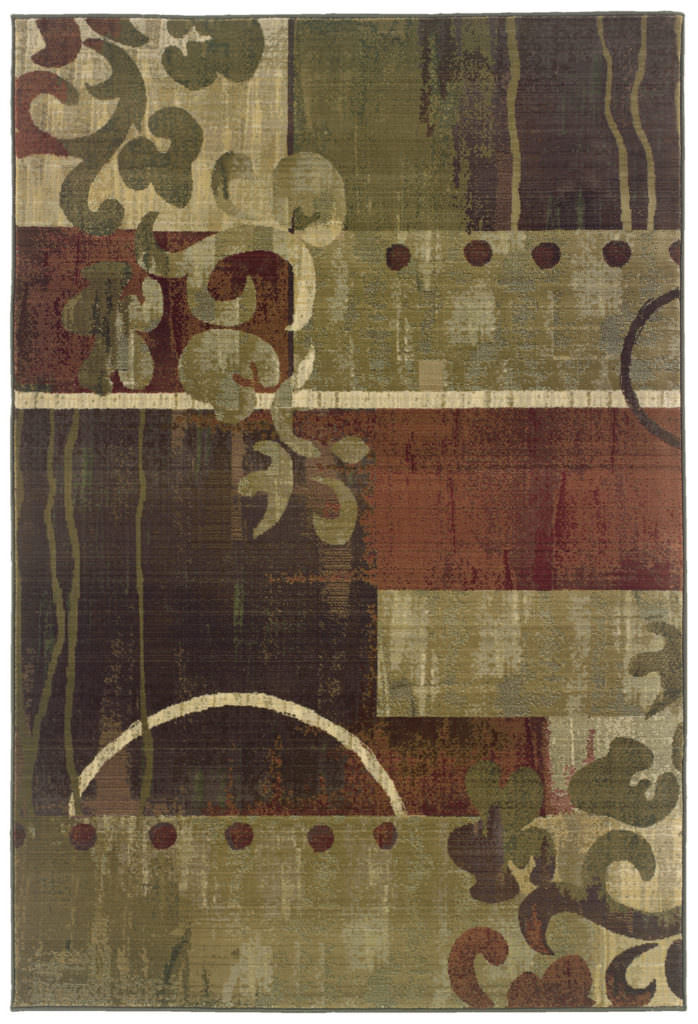 Oriental Weavers Generations GNR 8007A Green / Red Rug
