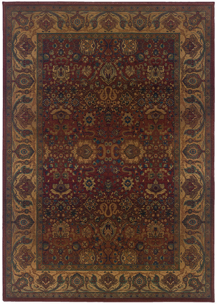 Oriental Weavers Kharma KHA 332C4 Red / Gold Rug