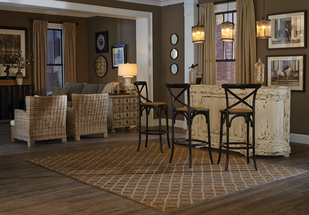 Tommy Bahama Maddox MAD 56503 Brown / Blue Room View