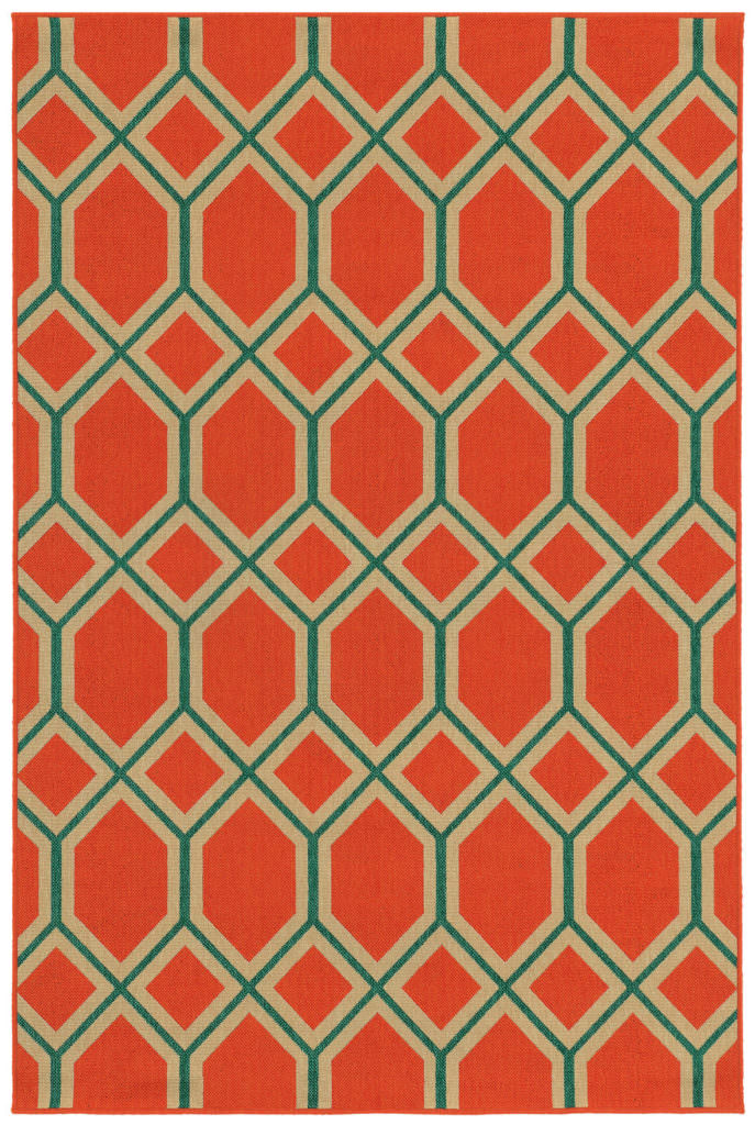 Tommy Bahama Seaside SES 6660C Orange / Teal Rug