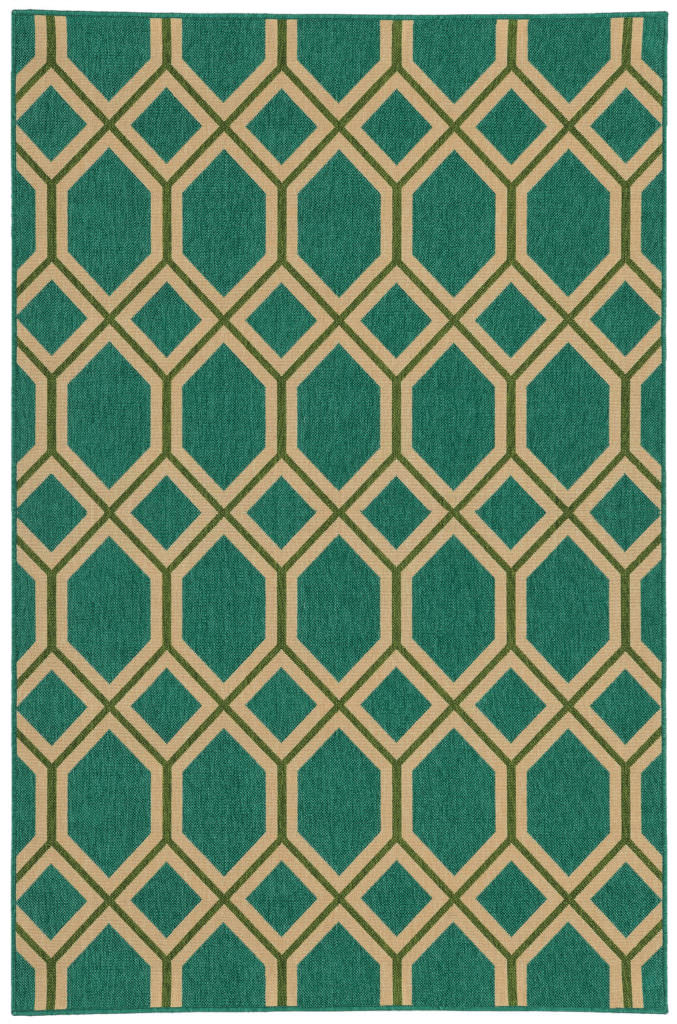 Tommy Bahama Seaside SES 6660L Teal / Green Rug