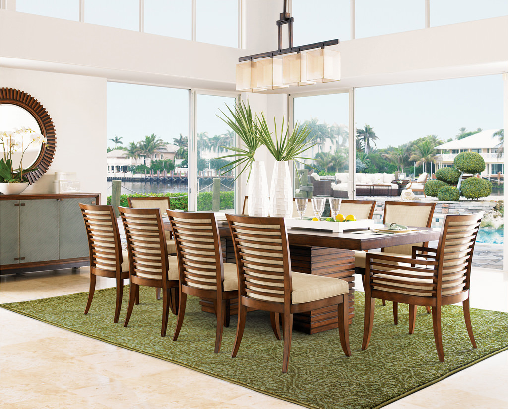 Tommy Bahama Voyage VOY 091P0 Green / Beige Room View