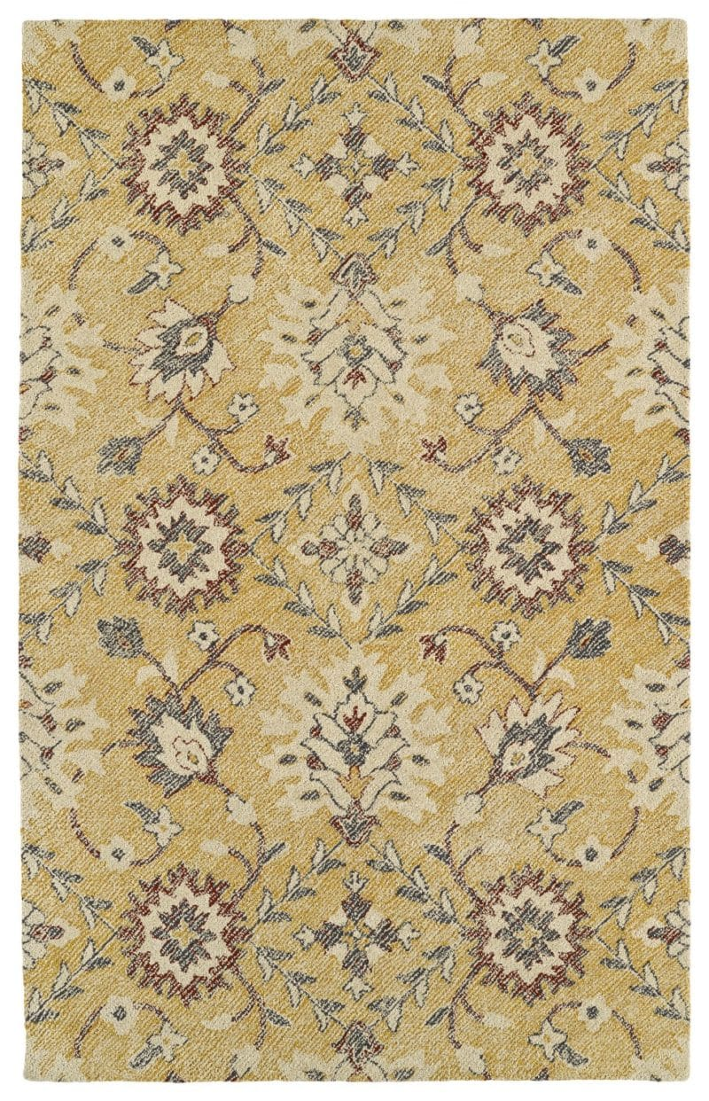 Kaleen Weathered WTR07-05 Gold Rug